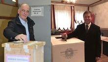 Augusto Rollandin e Fulvio Centoz al voto