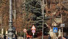 L'intervento in viale Monte Bianco.