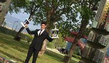 Chrstian Tonino, secondo nella categoria Flair al concorso nazionale barman