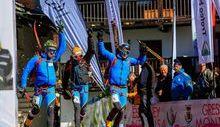 L'arrivo di Lenzi, Boscacci e Eydallin - Foto dalla pagina Facebook del Trofeo Mezzalama