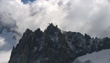 L'Aiguille de Marbrée nel massiccio del Monte Bianco