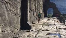 Oliviero Bosatelli sulla strada romana