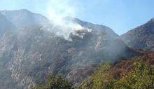 L'incendio a Donnas in in località Albard