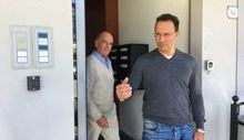 Augusto Rollandin e Ego Perron all'uscita dall'Uvp
