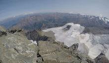 Il ghiacciaio Trajo da vetta Grivola