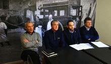 Aosta Valley Tourist Card - Da dx Aurelio Marguerettaz, Filippo Gérard, Beppe Cuc e Davide Vuillermoz