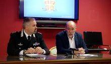 Il Tenente Colonnello dei Carabinieri Maurizio Pinardi e il pm Luca Ceccanti
