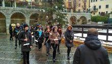 La banda di Saint-Vincent suona per il patrono del Paese.