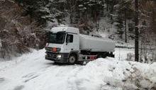 Camion fuori strada a Sarre