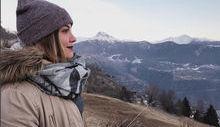 Federica Banfi in Valle d'Aosta (foto da Instagram).