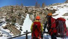Cascata di ghiaccio a Lillaz - Foto di Davide Verthuy