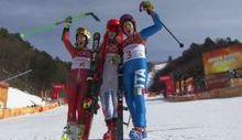 Federica Brignone sul podio olimpico
