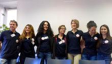 Da sx: Guido Cortivo, Aida Ndoja, Nathalie Brulard, Milena Veysendaz, Maria Cugnetto, Solange Bonin e Valentina Vittone