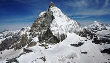 Il Cervino, visto dal versante svizzero.