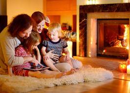 famiglia casa riscaldamento