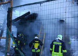 L'incendio a Sarre.
