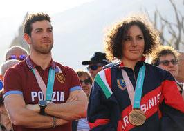 Federica Brignone e Federico Pellegrino