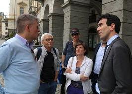 Maurizio Martina con Fulvio Centoz