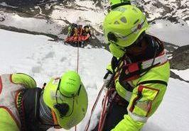 Aggiornamento Soccorso Alpino Valdostano a Punta Cian