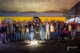 Il murales realizzato dai giovani di Hone