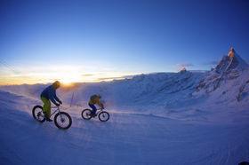 Raduno snow-bike, bici, montagna,