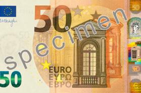 La nuova banconota da 50 euro serie