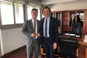 Il direttore di Agea Gabriele Papa Pagliardini con Laurent Viérin