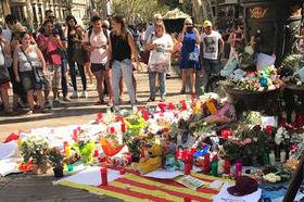 Il memorial sulla Rambla, a Barcellona