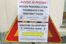 Chiude il tratto fra via martinet e via Tourneuve