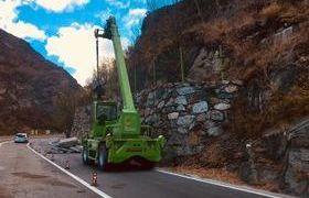 I lavori sulla strada a Montjovet (foto d'archivio)