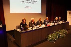 I relatori del convegno sulla comunicazione pubblica e i nuovi media