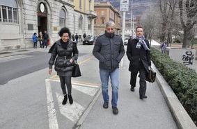 L'Avvocato Mavilla con Antonino Tripodi e Josefina Bienvenida Nunez Herrera,