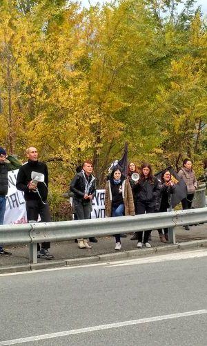 La protesta del