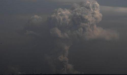 L'esplosione deposito munizioni - - foto del governo ucraino