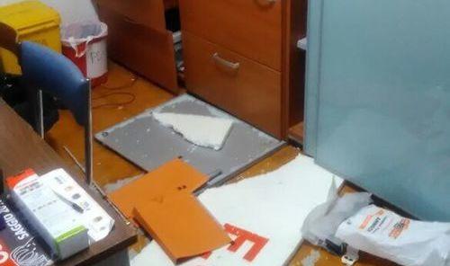 L'ufficio dell'Olimpia messo a soqquadro dai ladri