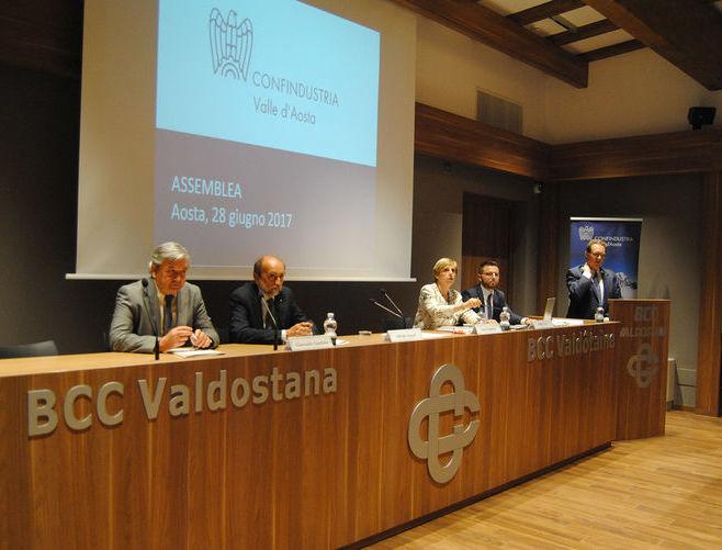 l'Assemblea generale di Confindustria Valle d'Aosta 2017