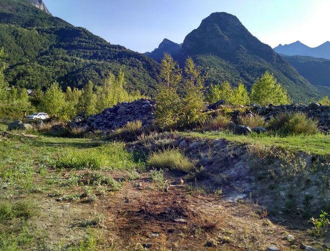 Il luogo dove è stato ritrovato il cadavere a Fénis