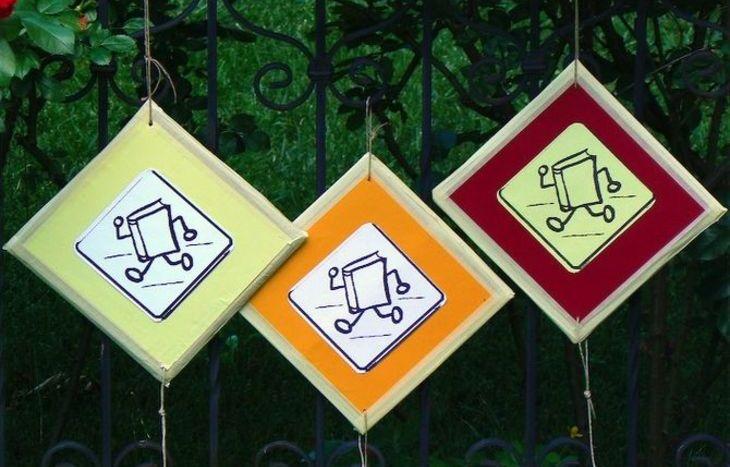 I simboli del bookcrossing utilizzati per il Bookcrossing Day
