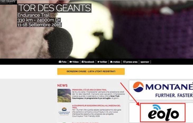 Eolo, il nuovo sponsor del Tor des Géants