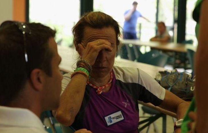 Francesca Canepa in lacrime a Donnas