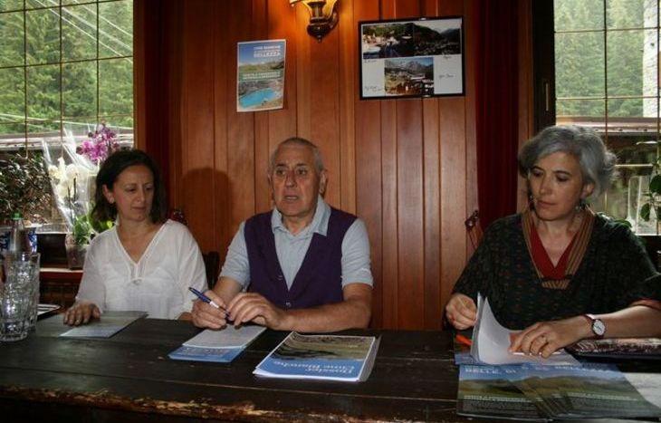 da sinistra, Arianna Dondeynaz, Marcello Dondeynaz e Martina Gerosa