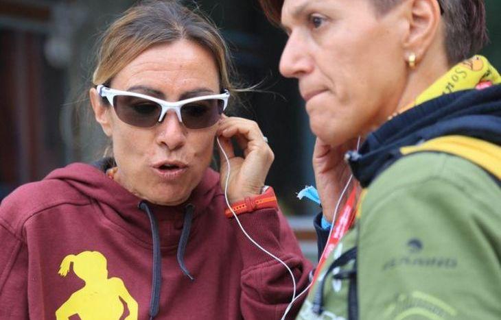 Francesca Canepa a Gressoney allo stand della Technos Medica