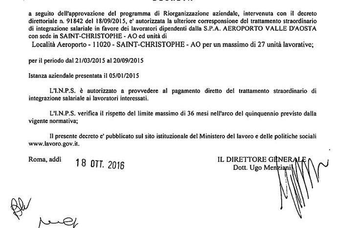 Il decreto del Ministero del Lavoro