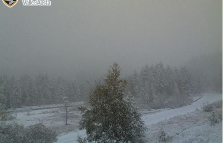 neve in Val Ferret 13 ottobre 2016