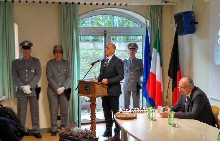 Il presidente Rollandin alla celebrazione del 48° anniversario del CFV.
