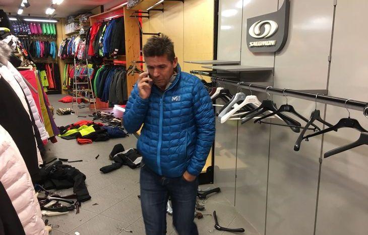 Furto nel negozio Gal Sport Aosta