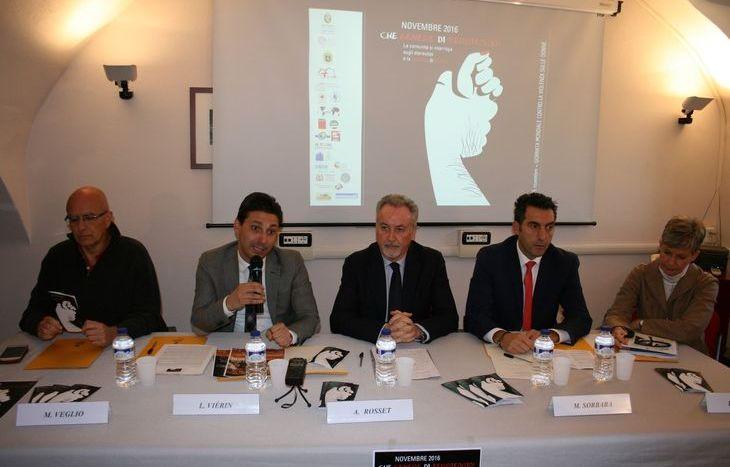 Massimo Veglio, Laurent Viérin, Andrea Rosset, Marco Sorbara e Patrizia Scaglia