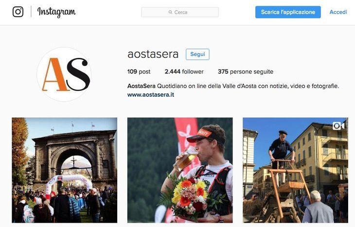 Profilo aziendale Instagram AostaSera