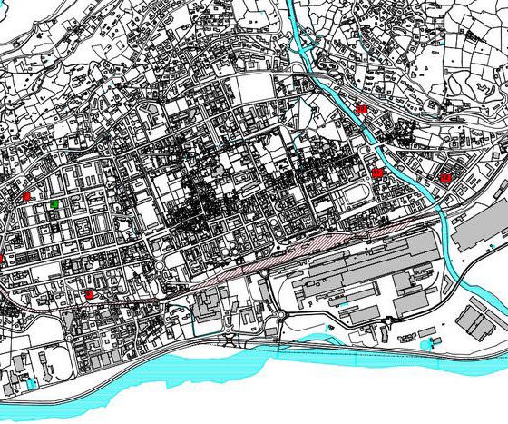 Cartografia Aosta Autorimesse