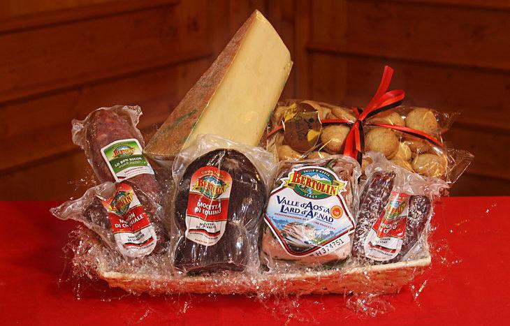 Un cesto natalizio di Maison Bertolin